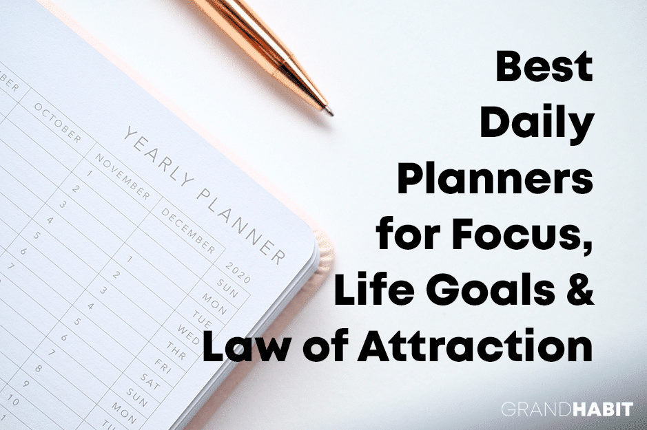 best daily planners for law of attraction life goals focus happier life