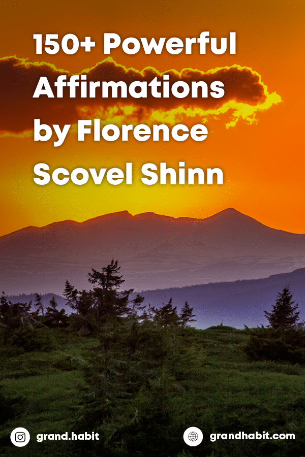 Florence Scovel Shinn Affirmations